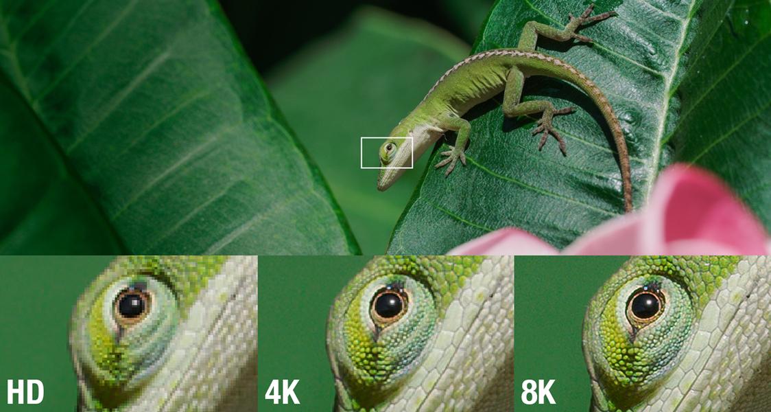 Comparaison des définitions HD, 4K et 8K