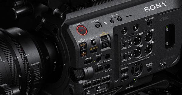 Nouvelle caméra Sony FX9 - boutons de réglages (source : Sony)