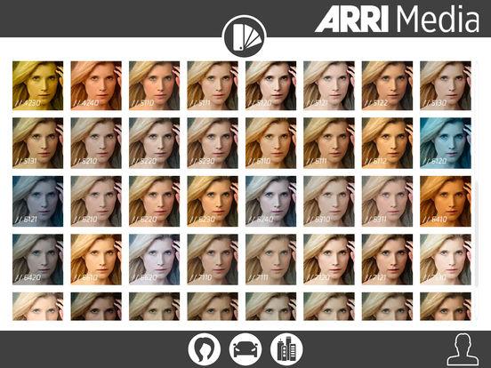 Arri Media - collection des Lut (source : ARRI)