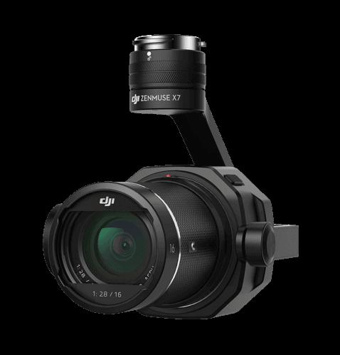 Camera Zenmuse X7 DJI pour drone Inspire 2 - à la location chez Visual Sequence