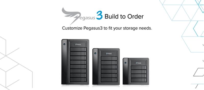 Stockage et sauvegarde professionnels avec Pegasus3 Promise R4 en location chez Visual Sequence