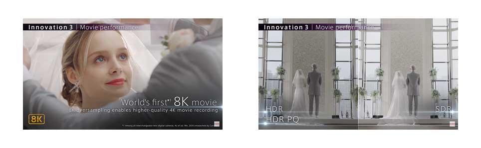 Rendu des images de l'appareil photo hybride Canon EOS R5 - à la location chez Visual Sequence (source : Canon)