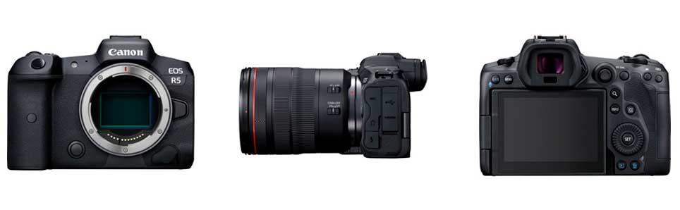 Location de l'appareil photo hybride Canon EOS R5 (source : Canon)