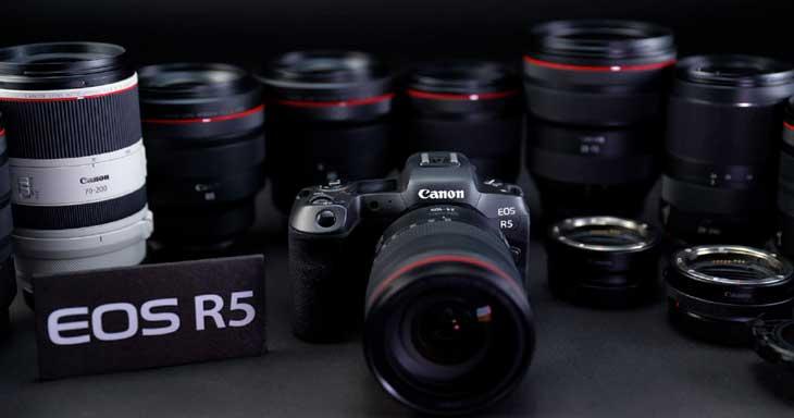 Appareil photo hybride Canon EOS R5 - à la location chez Visual Sequence (source : Canon)