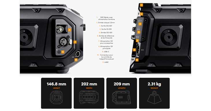 Les spécificités de la Caméra URSA Mini Pro - en location chez Visual Sequence